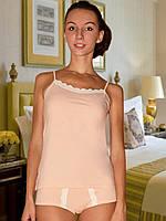 Пижама (майка и шорты) (Персиковый)