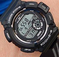 Кварцевые спортивные часы Skmei (black) - гарантия 6 месяцев