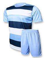 Футбольная форма игровая Europaw club (голубой\т.синий)