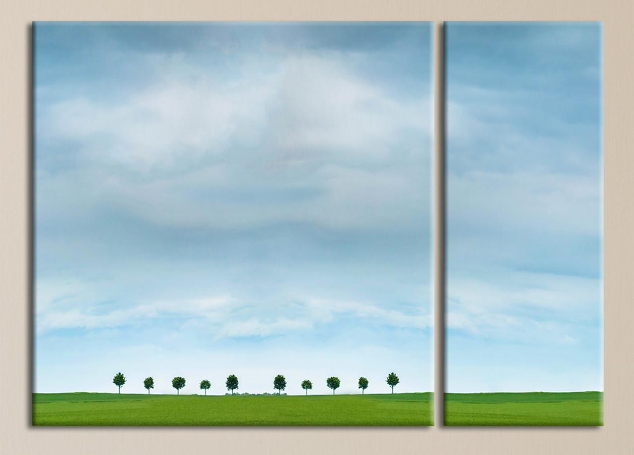 """Модульная картина """"Ясное синее небо"""""""