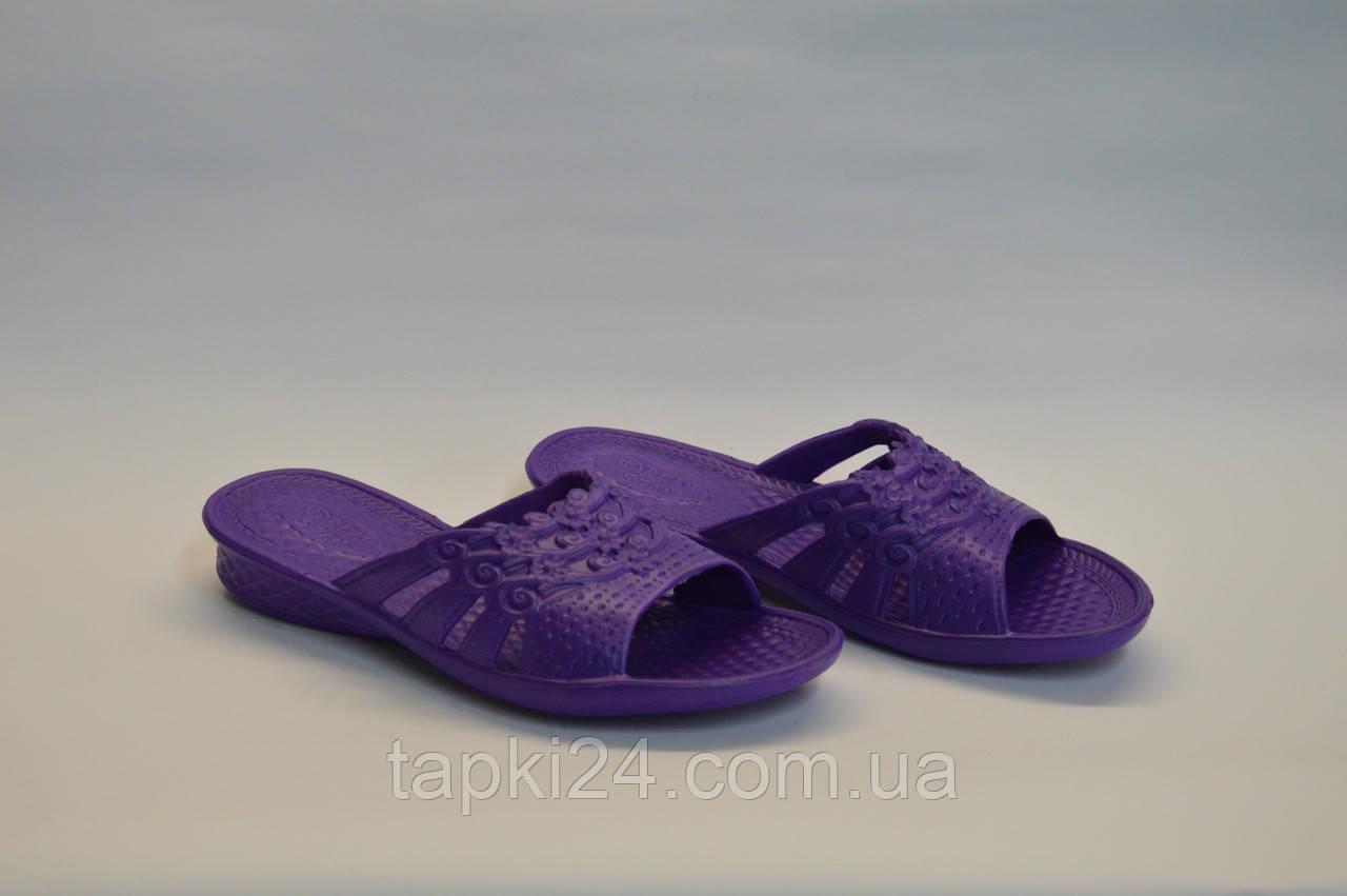 Шлепанцы женские оптом ПЖ - 11 фиолетовые, фото 1