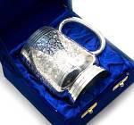 Кружка бронзовая пивная с серебряным напылением