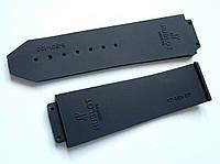 Ремешок к часам HUBLOT черный,  20мм у застежки