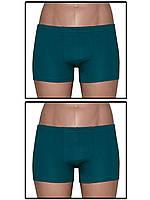 Набор мужских трусов боксеров (мини шортов) - 2 шт. (Темно зеленый)