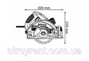 Пила дисковая Bosch GKS 65 GCE  - аренда, прокат, фото 2