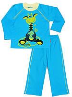 Утепленная детская пижама (кофта и брюки)  (Голубой)