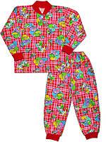 Утепленная детская пижама (кофта и брюки) (Красный, любовь)