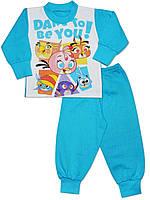 Утепленная детская пижама (кофта и брюки) ( Бирюзовый)