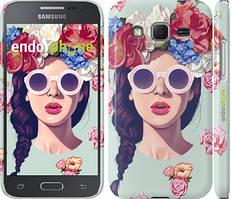 "Чехол на Samsung Galaxy J5 J500H Девушка с цветами ""2812c-100"""