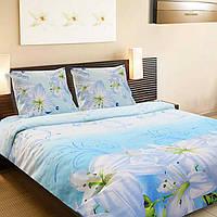 Комплект постельного белья ТЕП (Голубой, белый)
