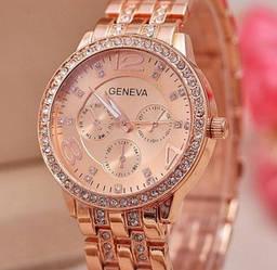 Часы Geneva (rose gold) - гарантия 6 месяцев