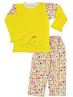 Детская пижама (кофта и брюки)    (Желтый)