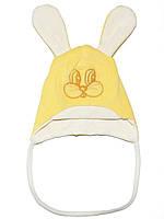 Велюровая детская шапочка (Желтый)