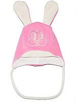 Велюровая детская шапочка (Розовый)