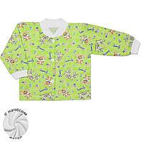Теплая детская кофта (Зеленый, зайцы)