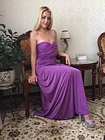 Женское  платье в пол в лавандовом  цвете