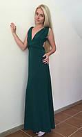 Женское  платье в пол в зеленом цвете