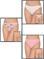 Набор женских трусов стрингов - 3 шт. (Белый, розовый)