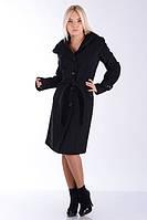 Пальто демисезонное женское с капюшоном черное. Размеры: 42-54. Цвета: разные