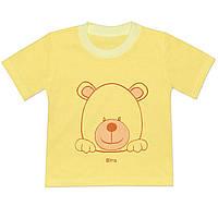 Детская футболка  (Светло желтый, мишка)