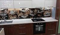Фартух на кухонну стіну зі скла з фотодруком