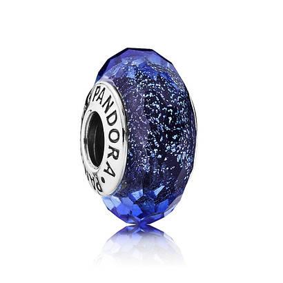 Переливающееся «Синее мурано» в стиле Pandora