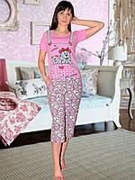 Пижама (футболка и капри) (Розвый)