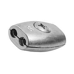 Зажим для троса бочкообразный 3 мм - бочонок двойной обжимной