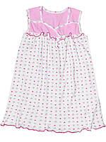 Детская ночная сорочка (Белый с розовым)