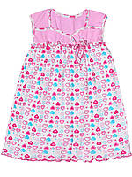 Детская ночная сорочка  (Белый с розовым и голубым)