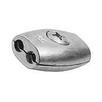 Зажим для троса бочкообразный 4 мм - бочонок двойной обжимной