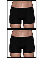 Набор мужских трусов боксеров (мини шортов) - 2 шт. (Черный)