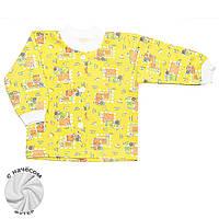 Теплая детская кофта (Желтый, котик)