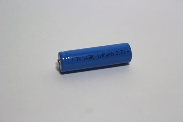 Аккумулятор(АКБ) TR-14500 3,7 вольт 1200 мА/ч.Для фонарей.