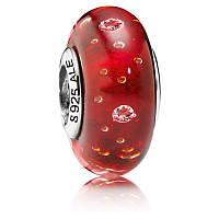 Шарм «Красное мурано» в стиле Pandora