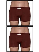 Набор мужских трусов боксеров (мини шортов) - 2 шт. (Темно коричневый)