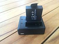 Двойное зарядное устройство для экшн-камеры SjCAM и 2 аккумулятора