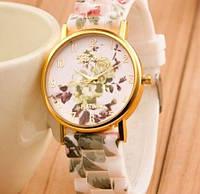 Часы Geneva (pastele flowers)