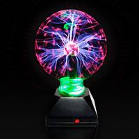 Плазменный шар Plasma ball 7″, плазменный шар с молниями, Tesla плазма ночник, лампа плазменный шар