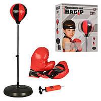 """Боксерский набор M 1072 """"Чемпионский набор"""", боксерская груша на стойке(от80до110см), перчатки 2шт, 42-34-9см"""