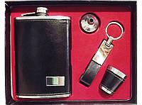 Набор фляга + лейка + брелок + рюмка NF221, оригинальный подарок мужчине, подарочный набор фляга