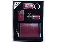 Набор фляга + зажигалка + брелок + мини фляга в виде брелка NFEE287, стильный подарочный набор для мужчины