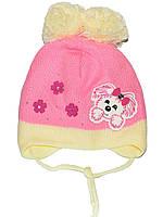 Детская шапочка (Бежевый, розовый)
