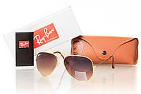 Солнцезащитные очки реплика RAY BAN AVIATOR 3026BROWN-GOLD