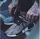 Мужские кроссовки Adidas NMD Runner (в стиле Адидас НМД) серые, фото 2