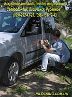 Вскрытие Volkswagen Caddy