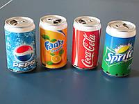 Портативная колонка MP3 Coca Cola, банка Кока Кола, Фанта, Спрайт