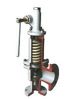 Клапан предохранительный пружинный фланцевый 17с21нж СППК4Р, СППК5Р