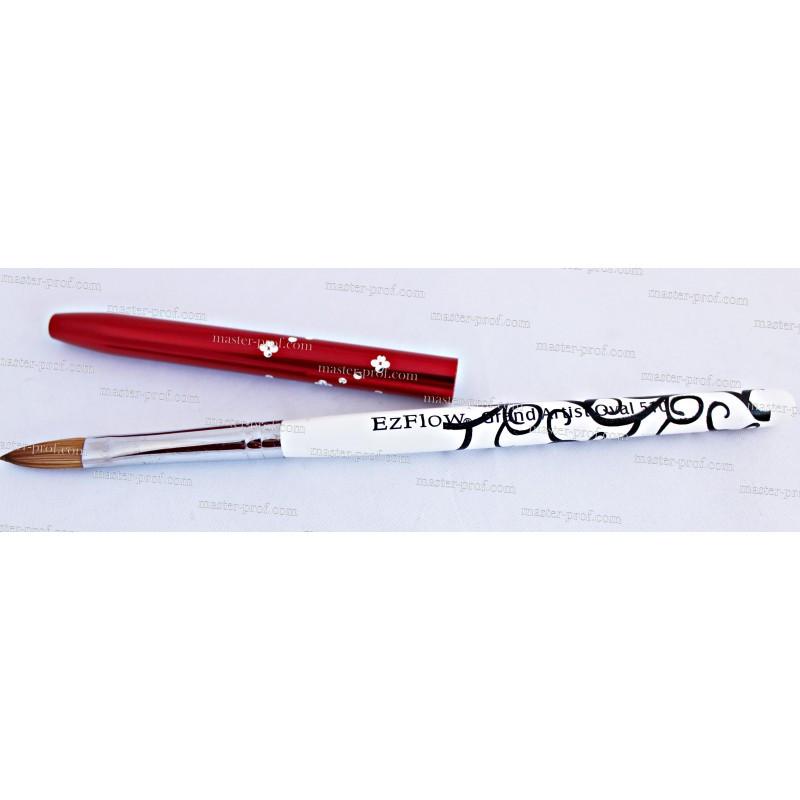 Кисть для акрила с цветным колпачком EzFlow 506, 508, 510
