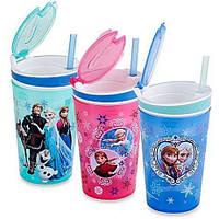 Стакан непроливайка для детей Disney Frozen 2 в 1